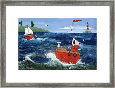 Ship Ahoy Framed Print by Peter Adderley
