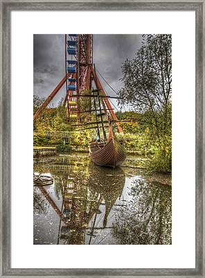 Ship And Wheel Framed Print