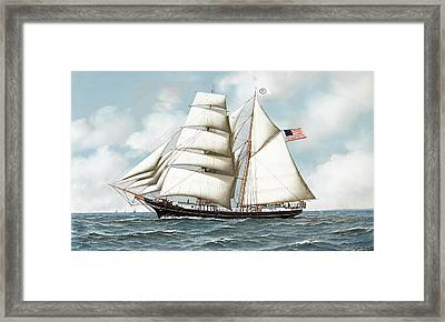 Ship Framed Print by Antonio Nicolo Gasparo Jacobsen