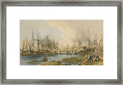 Ship Building At Limehouse Framed Print by William Parrot