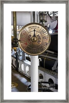 Ship Control Telegraph Framed Print by Steven Ralser