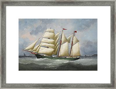Ship Framed Print by Edouard Adam