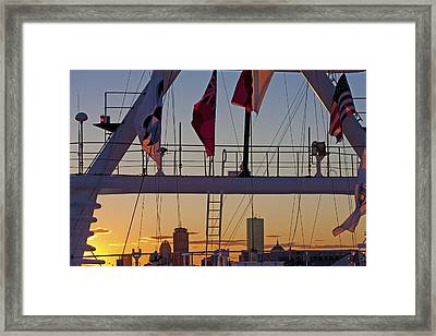 Ship Flags Framed Print by Betsy Knapp