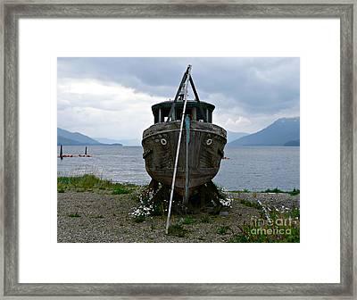 Ship For Sale Framed Print
