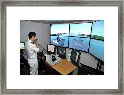 Ship Handling Simulator Framed Print