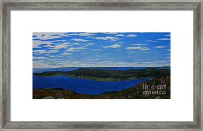 Ship Harbour From Sugarloaf Hill Framed Print by Barbara Griffin