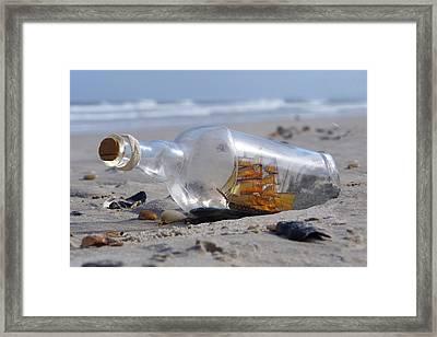 Ship In A Bottle Framed Print by Mike McGlothlen