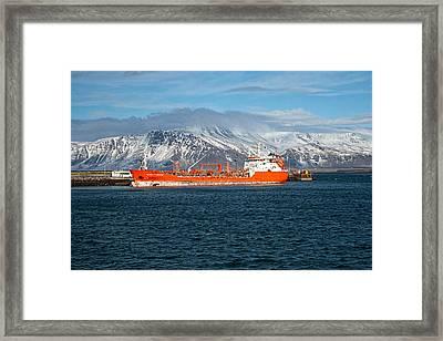 Ship In The Old Harbor I Framed Print