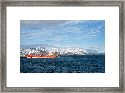 Ship In The Old Harbor II Framed Print
