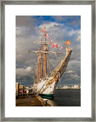 Ship In The Sun Framed Print