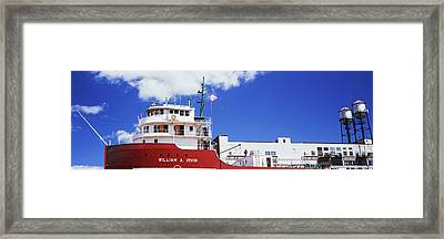 Ship Museum At A Harbor, William A Framed Print