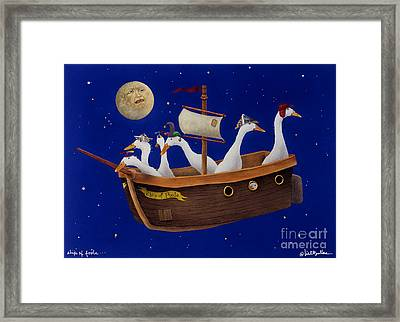 Ship Of Fools... Framed Print by Will Bullas