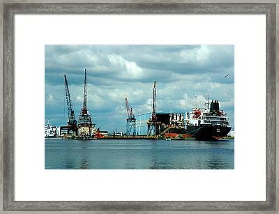 Ship Repair Framed Print by Norman Johnson