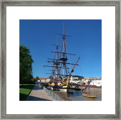 Ship Replica Of The Count De La Fayette Framed Print