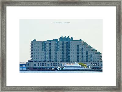 Ship Restaurant Framed Print