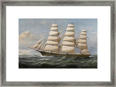 Ship Framed Print by Samuel Walters