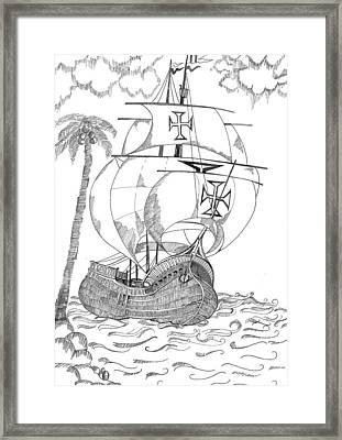 Ship Framed Print by Shruti Bhagwat