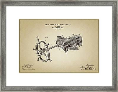 Ship Steering Apparatus Framed Print by Ambro Fine Art