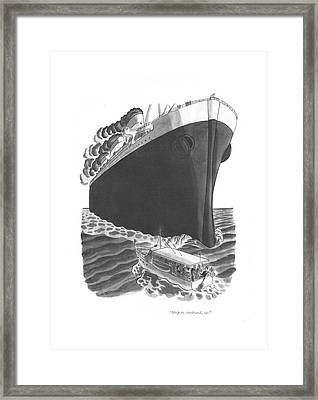 Ship To Starboard Framed Print