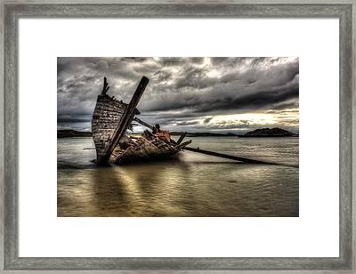 Ship Wreck Framed Print by Craig Brown