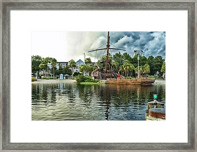 Ship Wrecked At The Disney Yacht And Beach Club Resort Framed Print by Thomas Woolworth