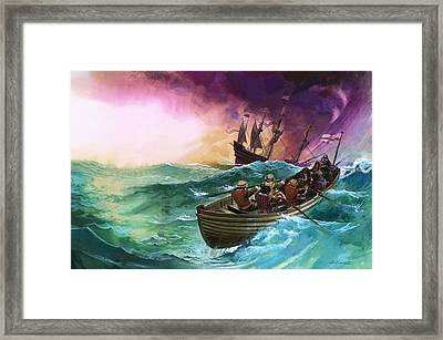 Shipwrecked Sailors Framed Print by Andrew Howat