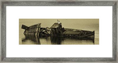 Framed Print featuring the photograph Ship Wrecked by Timothy Latta