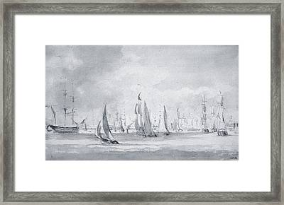 Shipping In The Thames Framed Print by John Constable