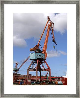 Shipping Industry Crane 06 Framed Print by Antony McAulay