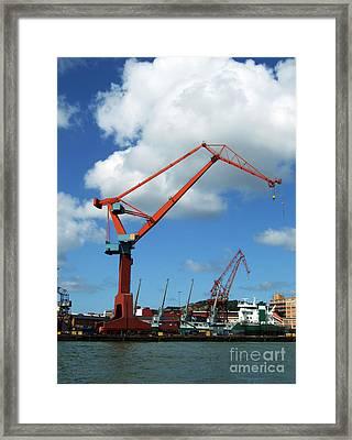 Shipping Industry Crane 07 Framed Print by Antony McAulay