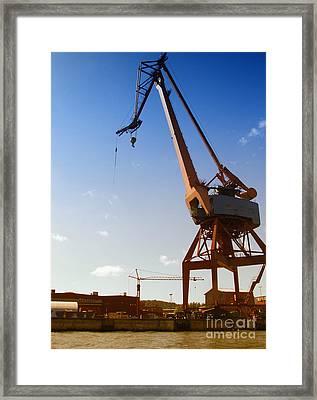 Shipping Industry Dock Framed Print by Antony McAulay