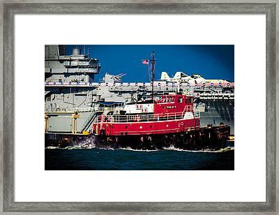 Shipping Lane Hero Framed Print