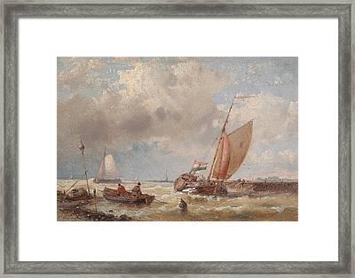Shipping On A Choppy Sea Framed Print