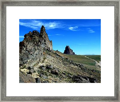 Framed Print featuring the photograph Shiprock by Alan Socolik