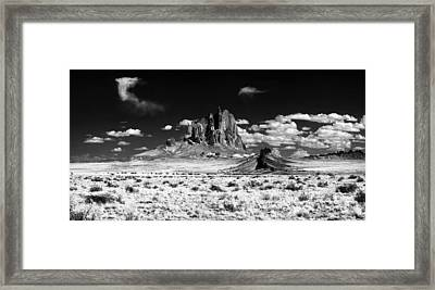 93000 Shiprock Dyke Close-up Framed Print