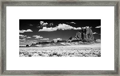 90272 Shiprock Dyke Long View Framed Print