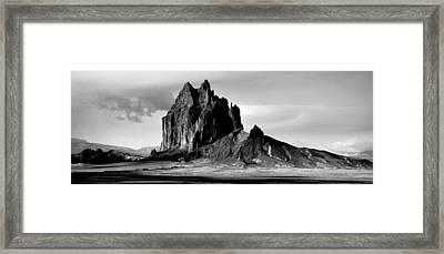 Shiprock Panorama Framed Print