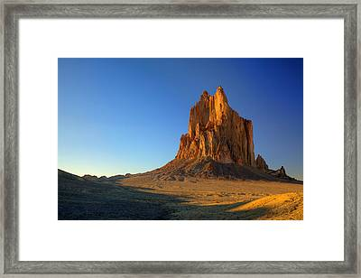 Shiprock Sunset Framed Print by Alan Vance Ley