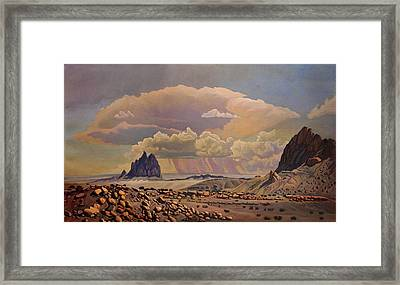 Shiprock Vista Framed Print by Art West