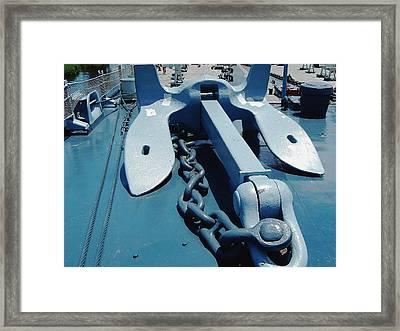 Ships Anchor Framed Print