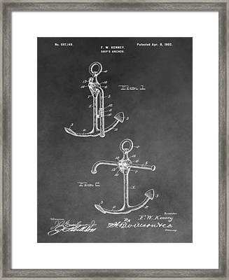Ship's Anchor Patent Framed Print