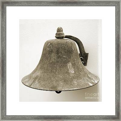 Ship's Bell Framed Print