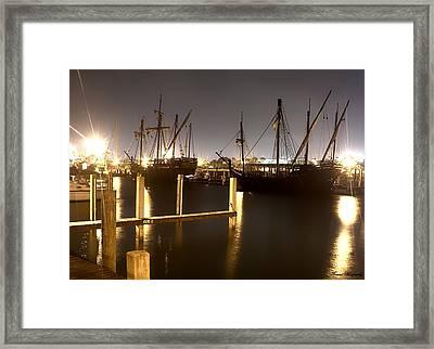 Ships From Afar Framed Print