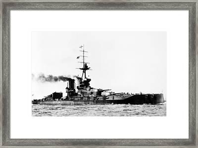 Ships Hms 'iron Duke Framed Print