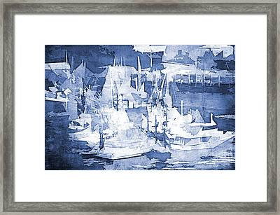 Ships In The Water Framed Print