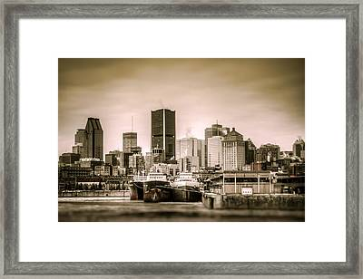 Ships Moored For Winter Framed Print by Martin New