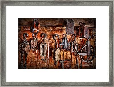 Ship's Rigging Framed Print by Lee Dos Santos