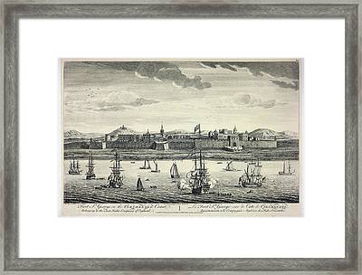 Ships Sailing Into Port Framed Print by British Library