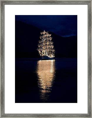 Ships That Pass In The Night Framed Print
