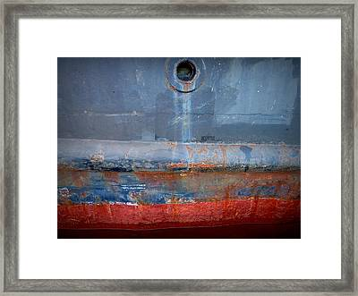 Shipside Abstract II Framed Print by Patricia Strand